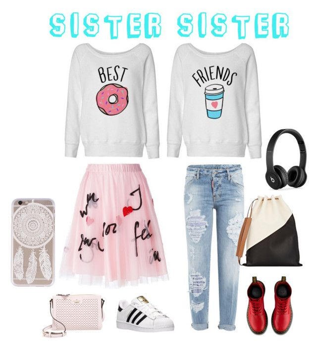 """Sister Sister"" by painted1981 on Polyvore featuring Dsquared2, P.A.R.O.S.H., adidas, Dr. Martens, Kate Spade, Marni and Beats by Dr. Dre"