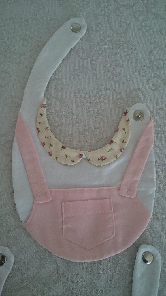 Bavaglini rosa e celesti cotone