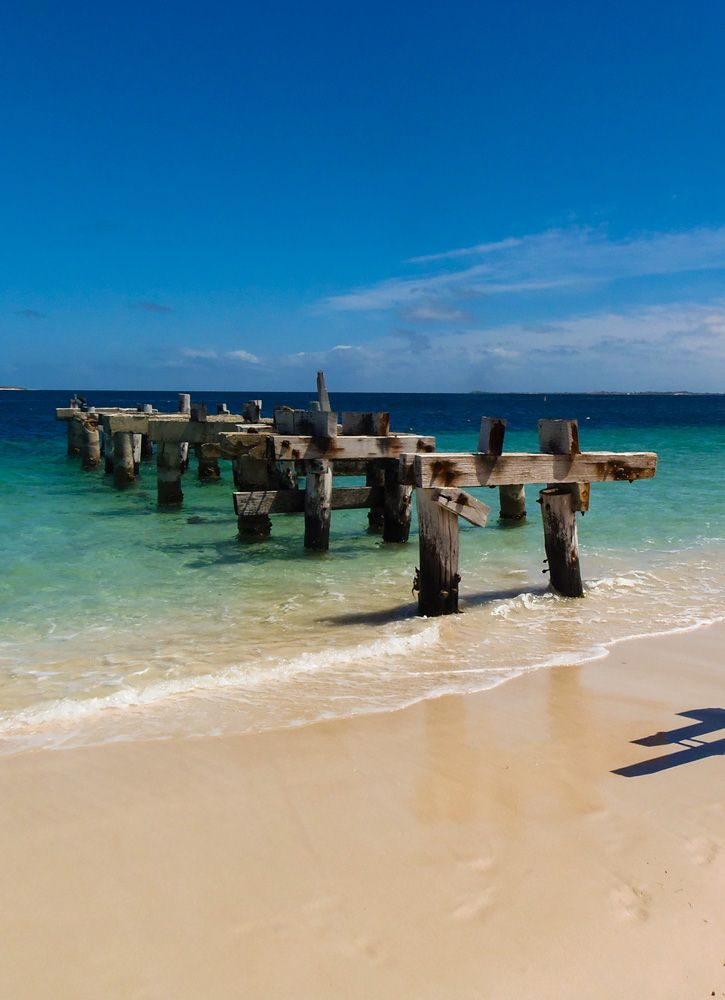 Visit Jurien Bay in Western Australia to see the old jetty whilst camping at Sandy Cape. Read about the campground on GetawayWA: http://wp.me/p8jF6B-7n