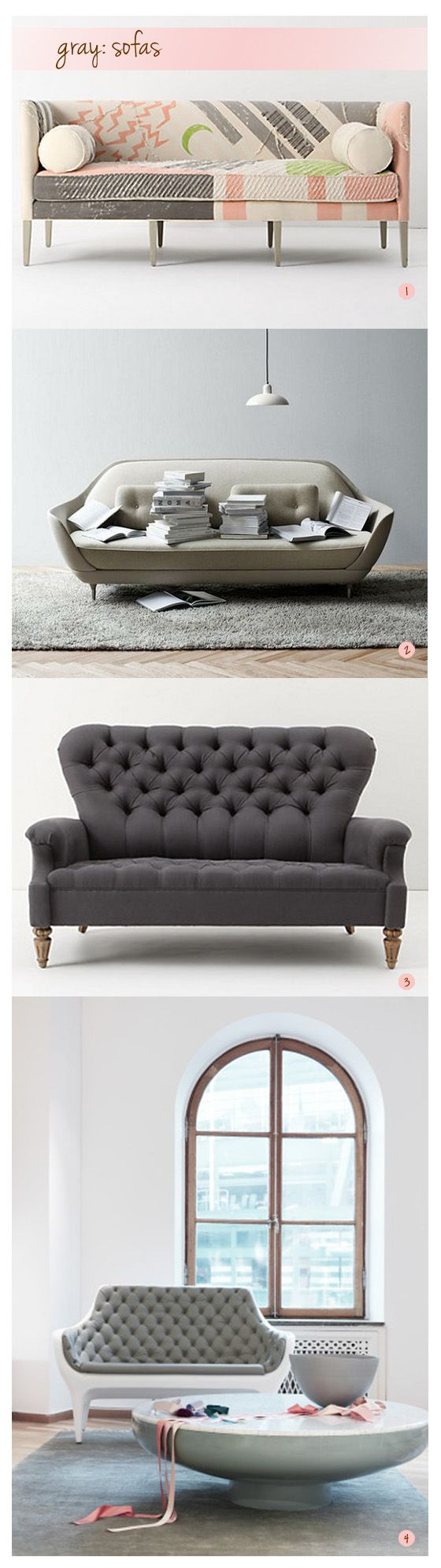 Over at the fun blog dirty Laundry there are some gorgeous in gray sofa's that are a must see…you can hop over there for all the details and...