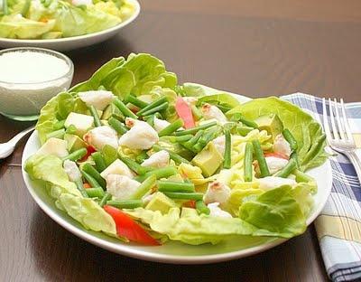 salad with crab apples & avocado