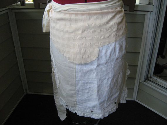 Rustic  style wrap skirtcollage   of fabricspencil  by Voweco