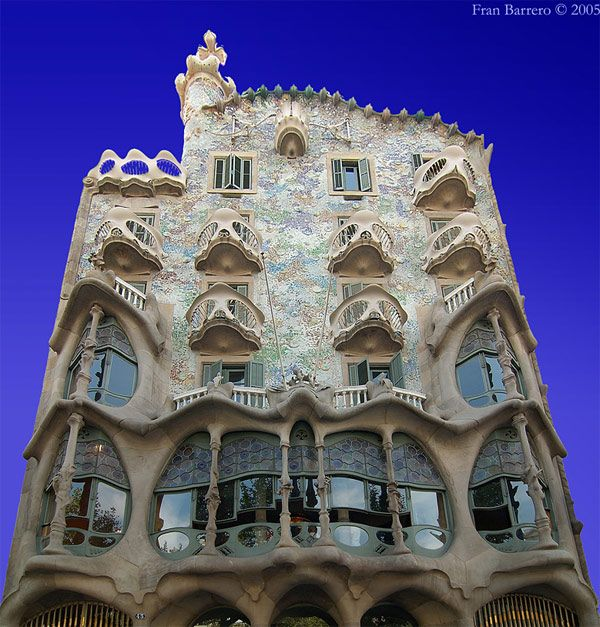 Guadi house, Barcelona. We had dinner with DDB here, i sat just inside the windows on second floor.