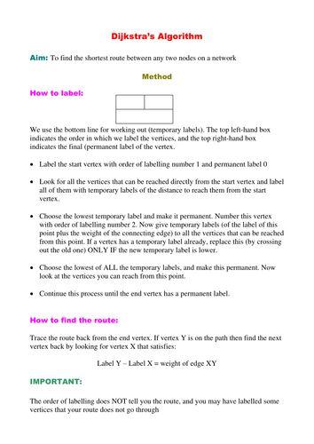 Dijkstra's Algorithm Notes.doc