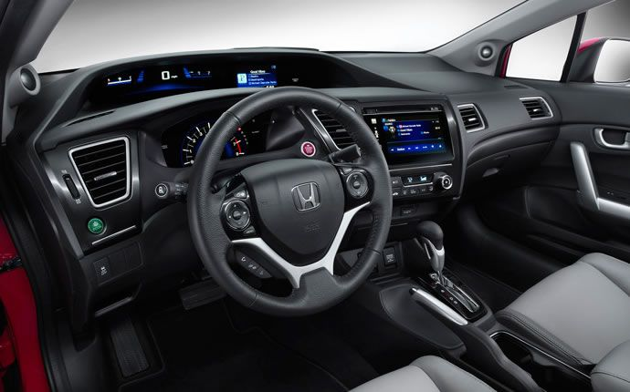 2015 Honda Civic Coupe Interior | Love the layered controls and display inside the Coupe version of the 2015 Civic