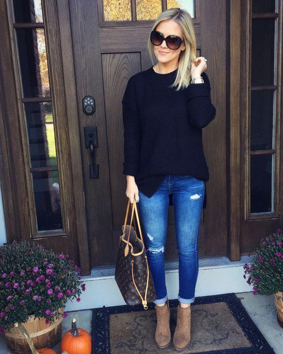 15 Outfits con botines para verte más chic y alta que tus compañeras #casualwinteroutfit #winteroutfits