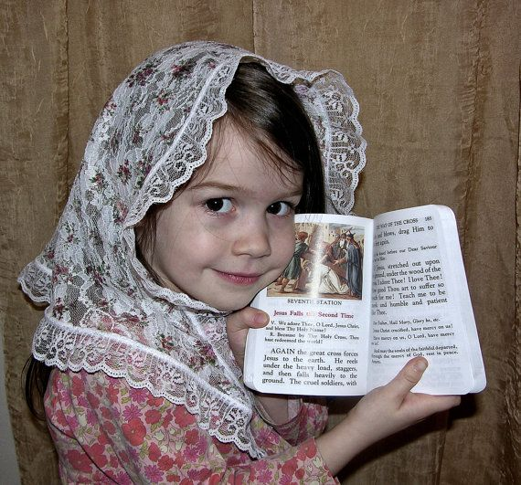 Blessed Teresa of Calcutta Veil for Girls  by RobinNestLane, $23.00  www.catholicchapelveils.com