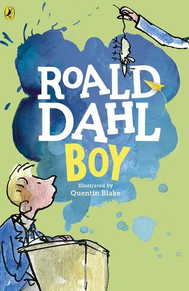 Boy: Tales of Childhood by Roald Dahl, Quentin Blake. Roald Dahl's bestselling autobiography, is full of hilarious anecdotes about his childhood and school days, illustrated by Quentin Blake. As a boy, all sorts of unusual things happened to Roald Dahl. There was the time he and four school friends got their revenge on beastly Mrs Prachett in her sweet shop.There are stories of holidays in fishing boats, African adventures and the days of tasting chocolate for Cadbury's.