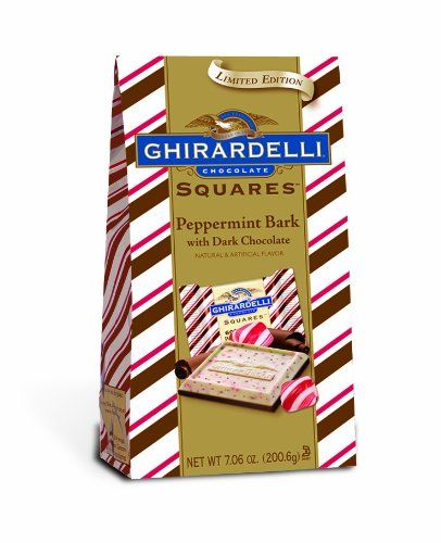 Ghirardelli Chocolate Squares, Peppermint Bark with Dark Chocolate, 7.06-Ounce Packages (Pack of 4) - http://mygourmetgifts.com/ghirardelli-chocolate-squares-peppermint-bark-with-dark-chocolate-7-06-ounce-packages-pack-of-4/
