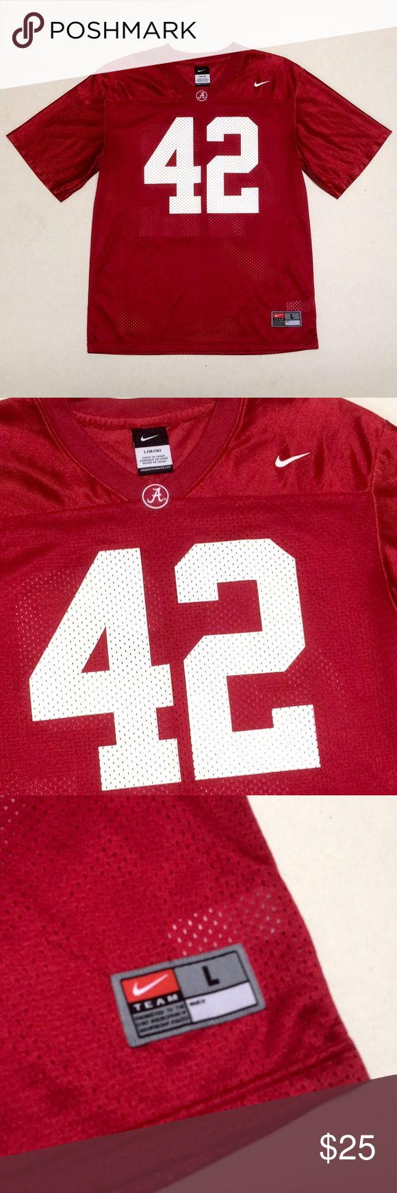 University of Alabama -Nike Youth Football Jersey University of Alabama  Nike Football Jersey 🏈  New without tags!    Size Youth Large (16 - 18)   Would fit a Women's Size Small/Medium   Roll Tide!! 🌊 Nike Shirts & Tops Tees - Short Sleeve