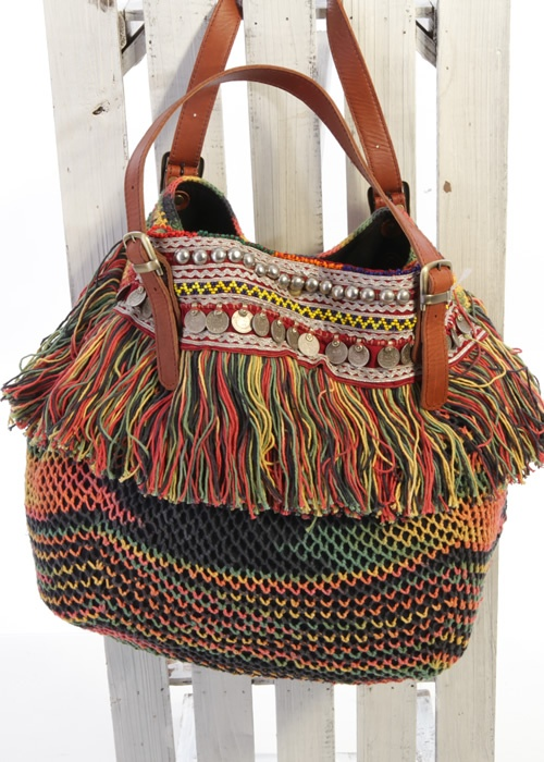 Hippie crochet bag Indie