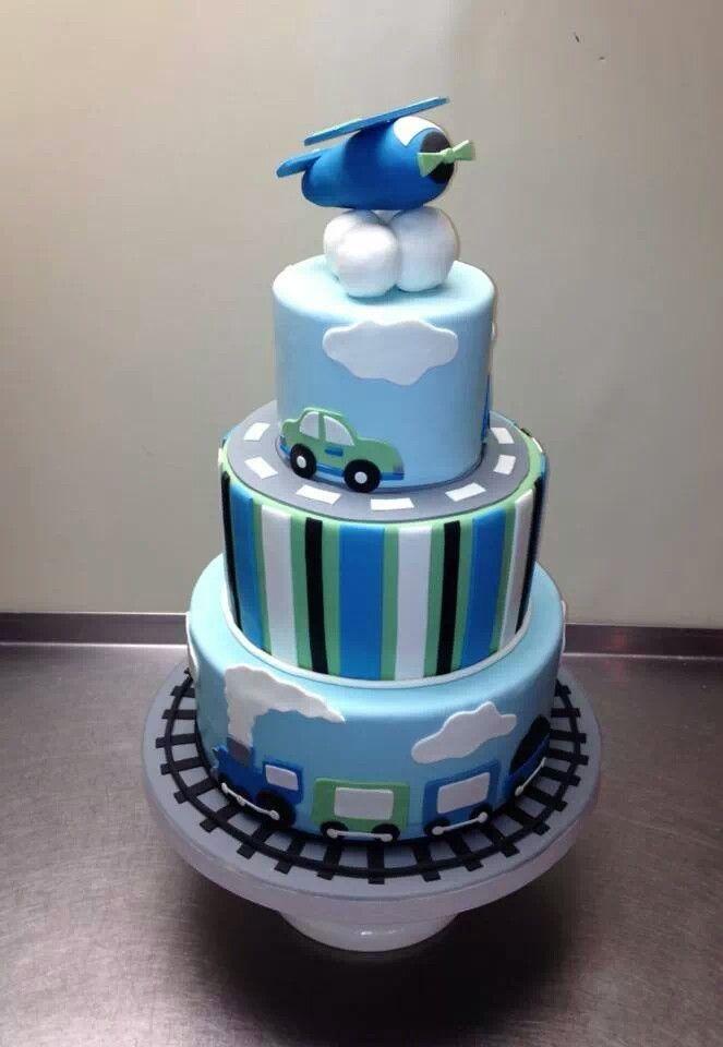 Birthday cake for a boy