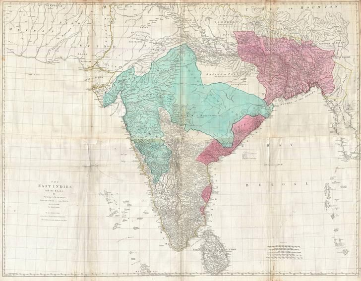 1768 Jeffreys Wall Map Of India And Ceylon Antique World Map Celestial Map Antique Map