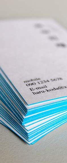 名刺 rinsai ペールトーン つゆくさ・・・「自分らしく、名刺らしく」というコンセプトを持たせて誕生したのが「rinsai(りんさい)」です。紙の縁は、朝露をうけて早朝に咲く鮮やかな青の「つゆくさ」をイメージした色です。