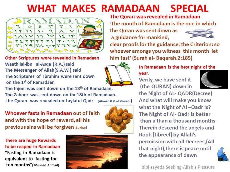 Ramadan is special