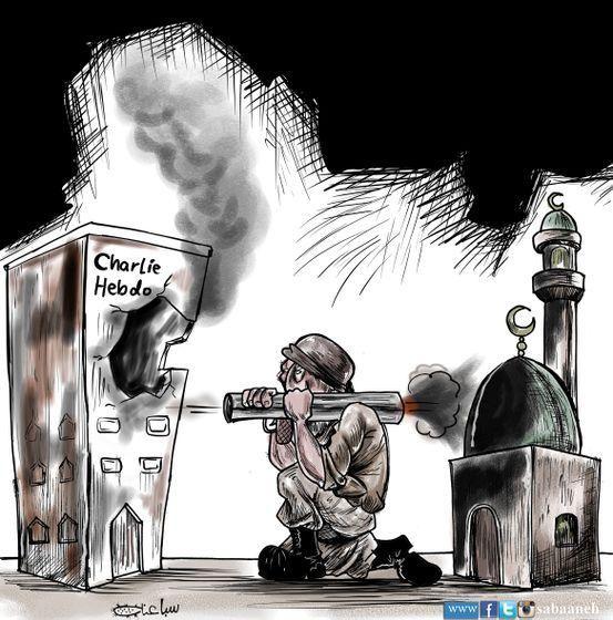 Dal Libano alla Siria, fino al Qatar, alla Malesia e all'Indonesia: in molti Paesi a maggioranza musulmana i disegnatori si sono ribellati alla violenza degli attacchi di Parigi. E con le loro vignette non solo dissacrano, ma si dissociano da chi ha assaltato Charlie Hebdo: l'Islam che mostrano nei loro disegni non è quello degli uomini con il turbante che ammazzano la libertà di pensiero, ma quello che difende la libertà di stampa. Molti disegni sono comparsi sui social network, associati…