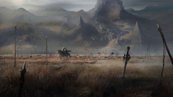 Fantasy war landscape - photo#6