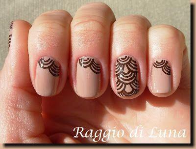 Raggio di Luna Nails: Brown arches