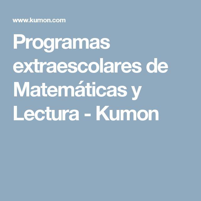 Programas extraescolares de Matemáticas y Lectura - Kumon