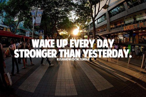 wake up stronger