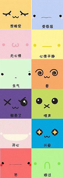 Sample Kawaii Faces for Amigurumi