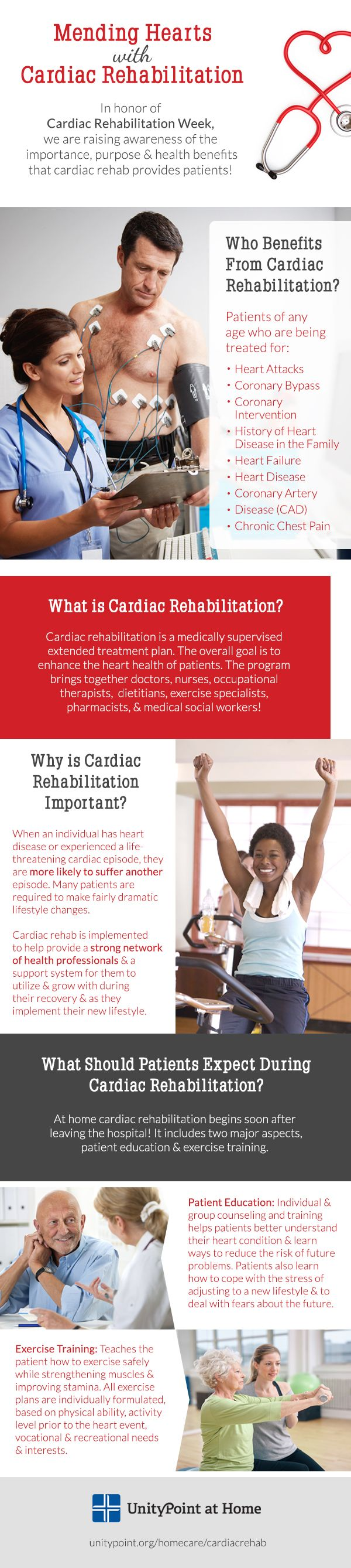 UnityPoint at Home helps patients rebuild their lives and increase quality of living with cardiac rehabilitation!