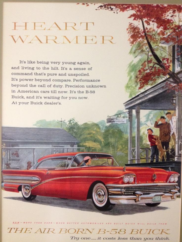 1958 Air Born B-58 Buick vintage ad