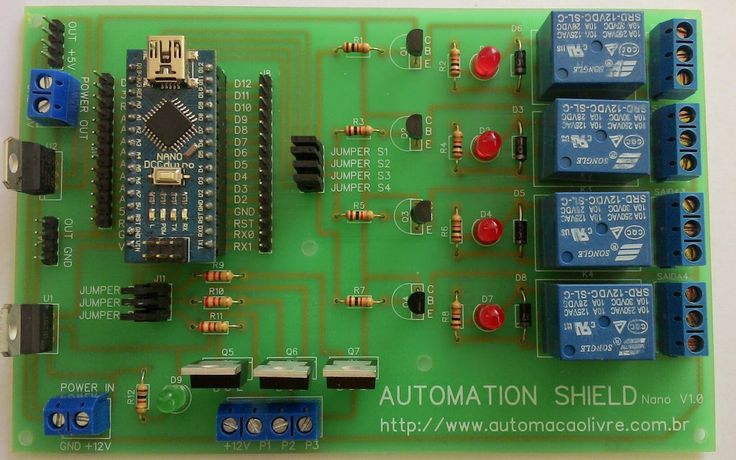 Hoje vamos apresentar o Automation Shield, ele foi desenvolvido com o objetivo de simplificar a criação de projetos de automação. É compatí...