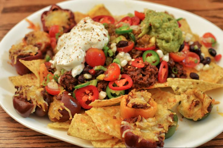 Oven Baked Nachos for a Crowd   These oven baked nachos are a crowd pleaser.  #desserts #baking #cake