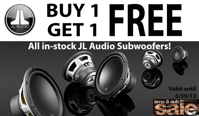Buy 1 Get 1 Free All JL Audio Subs!