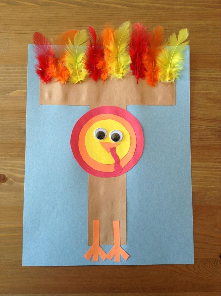 T is for Turkey Craft - Thanksgiving Craft - Preschool Craft - Letter of the Week Craft - Kids Craft