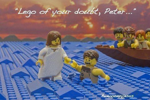 Lego of your doubt, Peter ...   Christian Funny Pictures - A time to laugh