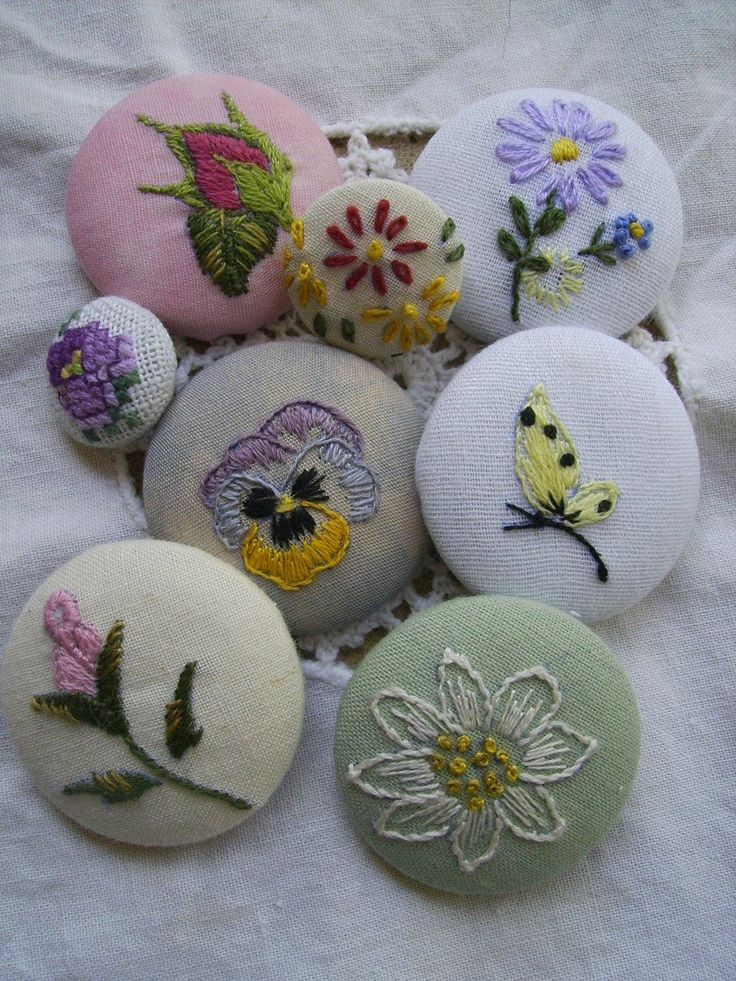 Yesteryear Embroideries: Embroidered Buttons