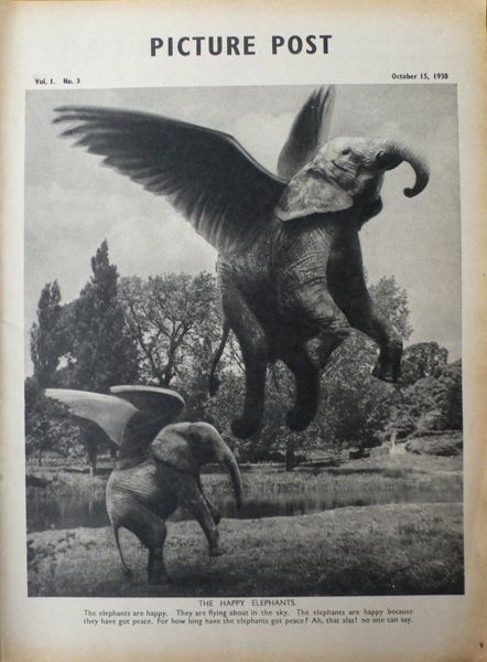 John Heartfield Picture Post 15th October 1938-Stefan Lorant -Photo-montage- Slightly out of Focus