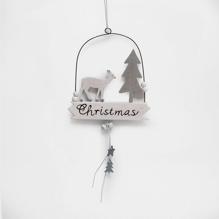 Подвесное украшение 'Козочка и елка' - Декоративные аксессуары - Для новогодней елки - Рождество | Zara Home Россия / Russia