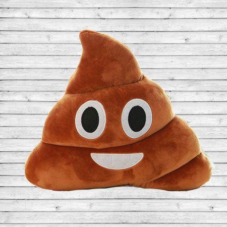 cool Smiling poop (pile of poo) Emoji Pillow