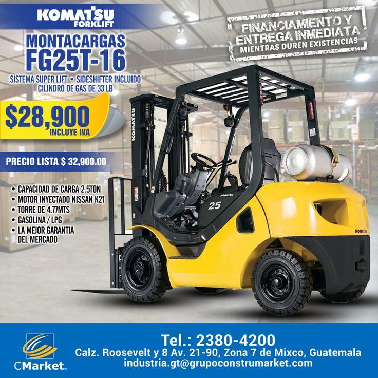 Motor inyectado Nissan K21 - Torre de 4.77 mts. - Garantía - Financiamiento  Precio rebajado en montacargas Komatsu de 2.5 Toneladas   Cmarket Guatemala   Para mayor información:  PBX 2380-4200