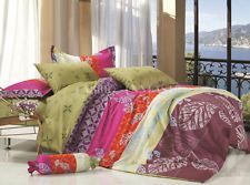 An awesome BINFEN Queen Size Bed Quilt/Doona/Duvet Cover Set Pillowcases New 100% Cotton for only 16.50 AUD.