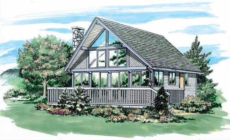 Eplans A-Frame House Plan - Rustic Details - 916 Square Feet and 2 Bedrooms from Eplans - House Plan Code HWEPL06027