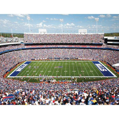 Artissimo Designs NFL Bills Stadium Canvas, 22x28, Multicolor