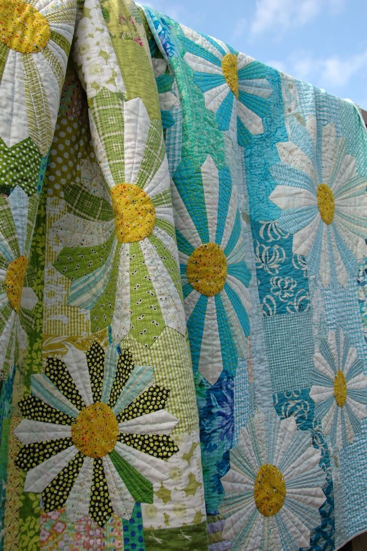 Dresden flower quilts!