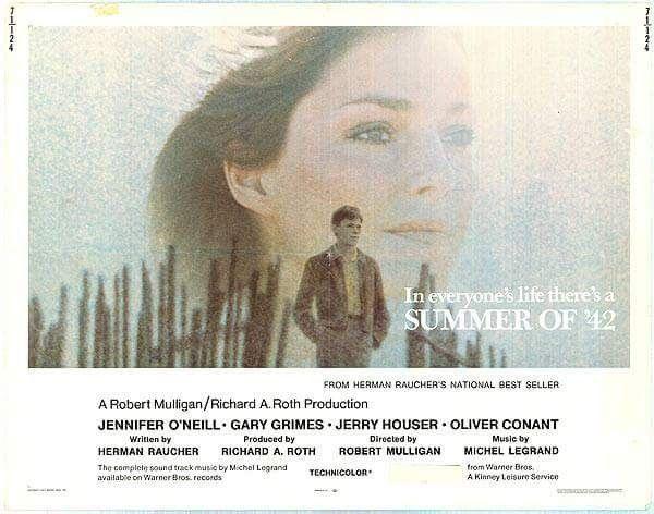 Summer Of 42 1971 Jennifer O Neill Gary Grimes Jerry Houser Jennifer O Neill Grimes Summer