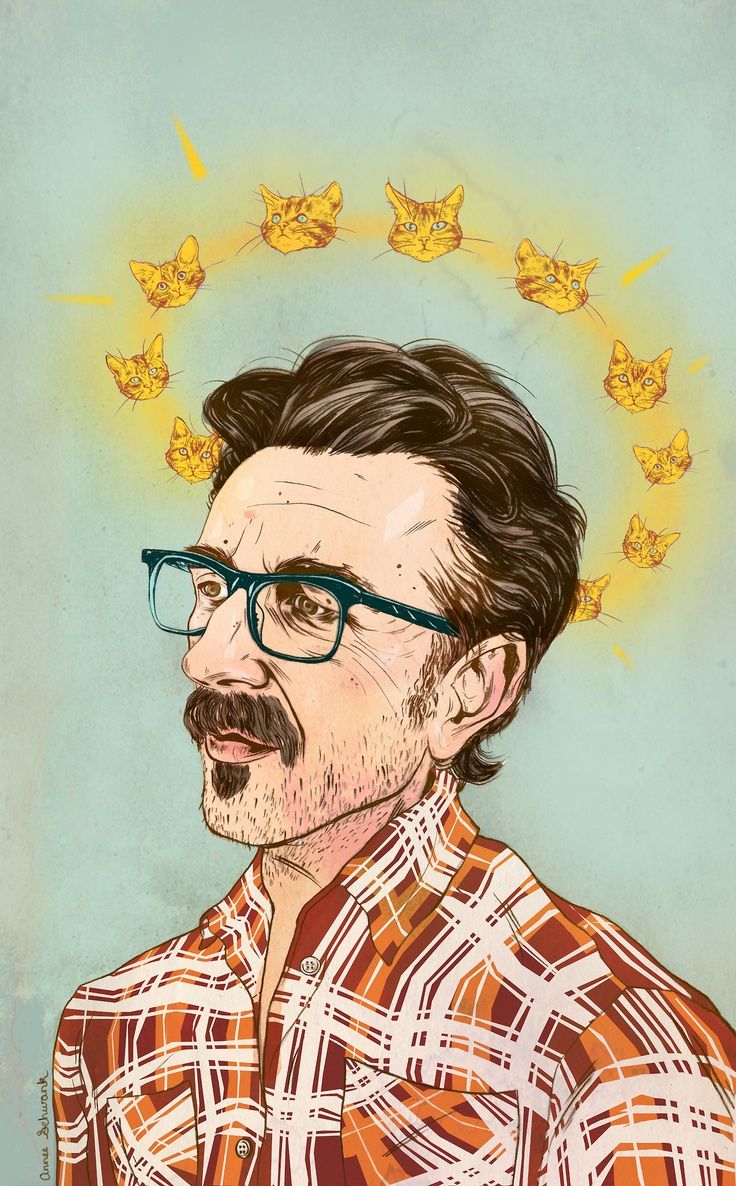 Marc Maron - illustration by Annee Schwank