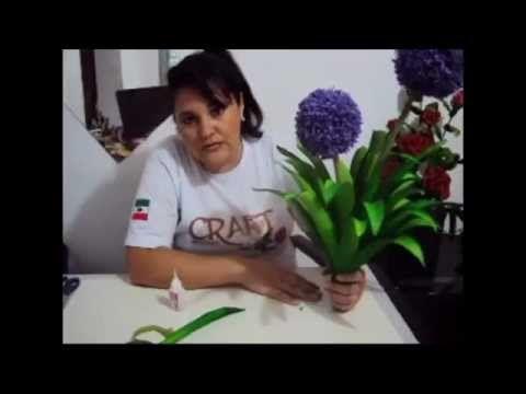 VÍDEO AULA FLOWERS ALLIUM   Prof  Andreia Cristina Craft
