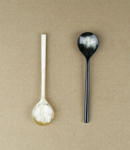 ox-horn yoghurt + preserve spoon - for l