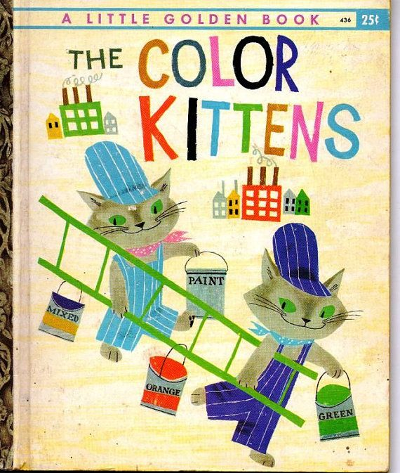 Cats in Art and Illustration: Little Golden Book, The Color Kittens
