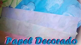 como hacer papel scrapbook casero - YouTube