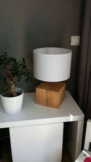 Lamp met zware houten voet van larikshout zelf gemaakt pinterest - Houten drie voet lamp ...