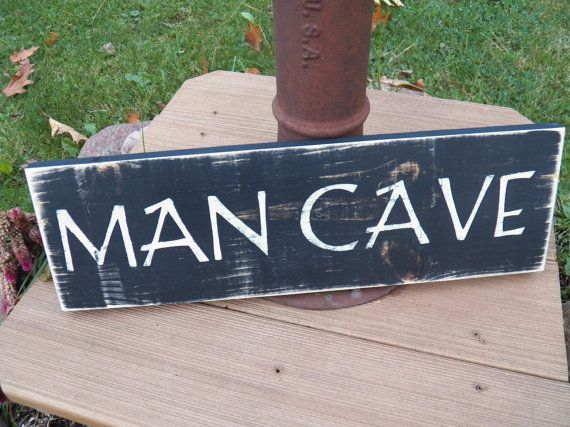 Handmade Man Cave Signs : Perfect father s day gift rustic man cave sign handmade