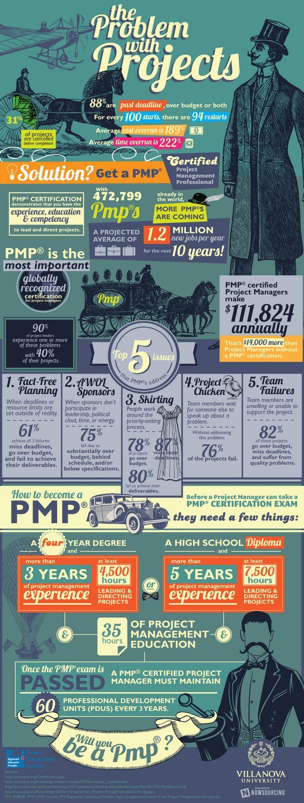 Blog de Eduardo: Los Problemas con los Proyectos (PMP) [Infografía]